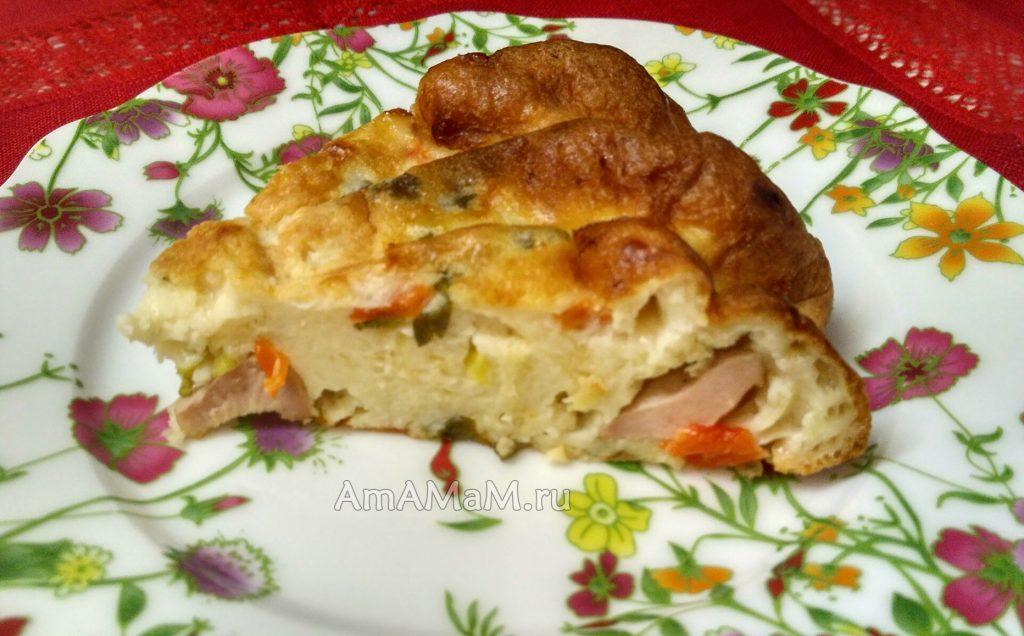 Вкусный пирожок сосисками без дрожжей на кефире с разрыхлителем