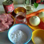 Состав рецепта тушеной говядины в томате
