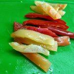 Нарезанный болгарский перец (на полоски)