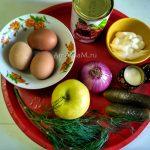 Состав продуктов для рецепта фасолевого салата