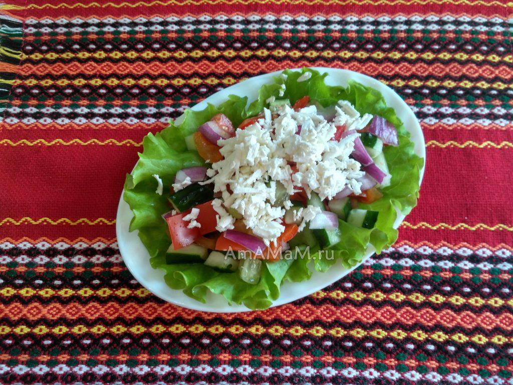 Болгарские рецепты - шопский салат