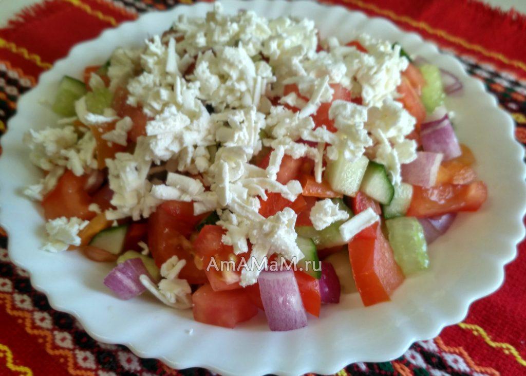 Болгарские салаты - шопский