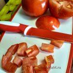 Нарезка помидоров для салата