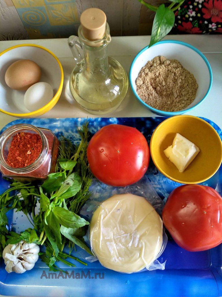 Помидоры и сулугуни для закуски - ингредиенты