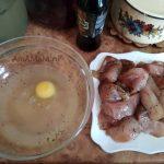 Рассол и яйцо - приготовление кляра