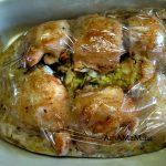 Приготовление бедрышек с капустой в пакете