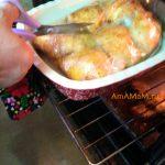 Процесс приготвления курицы с капустой в пакете