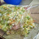 Приготовление курицы с капустой в пакете