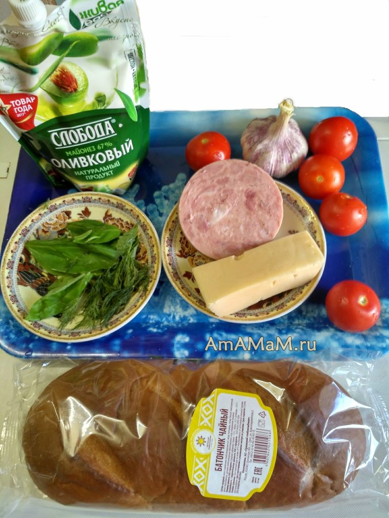 Состав и рецепт горячих бутербродов