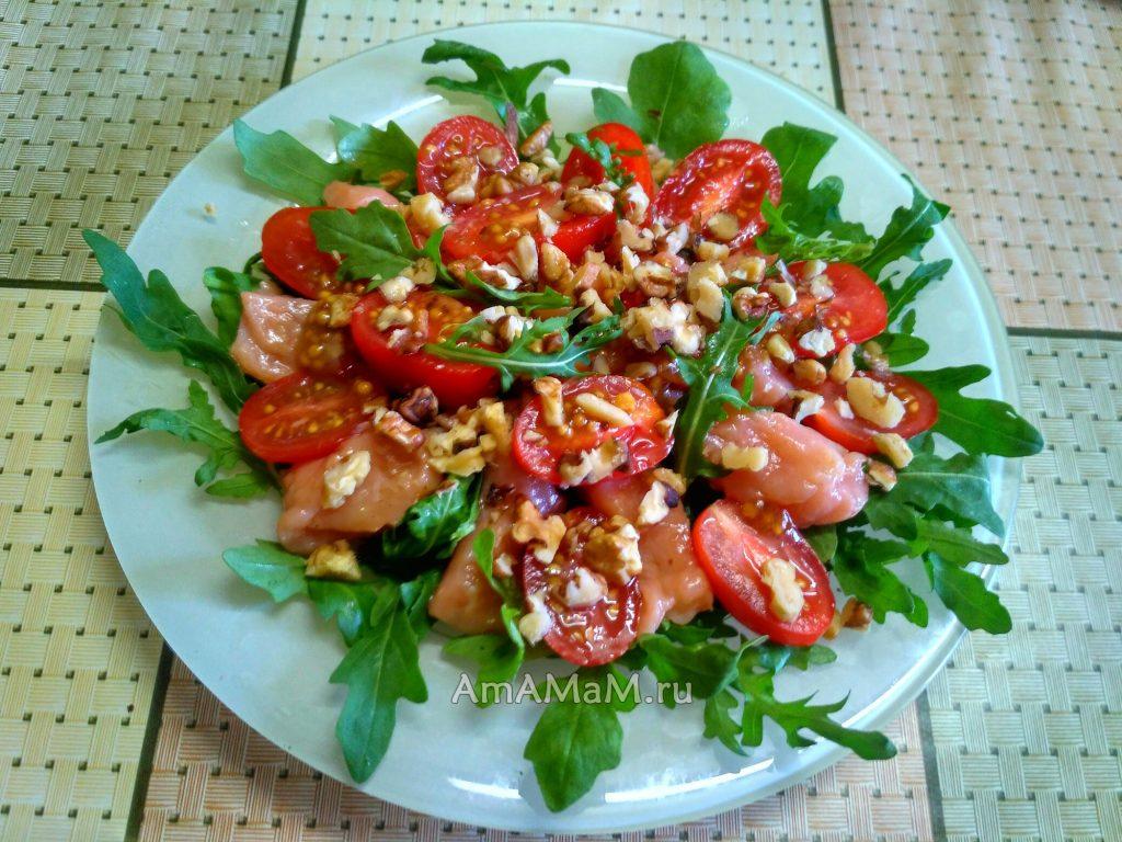 Красная рыба с рукколой и черри - рецепт салата