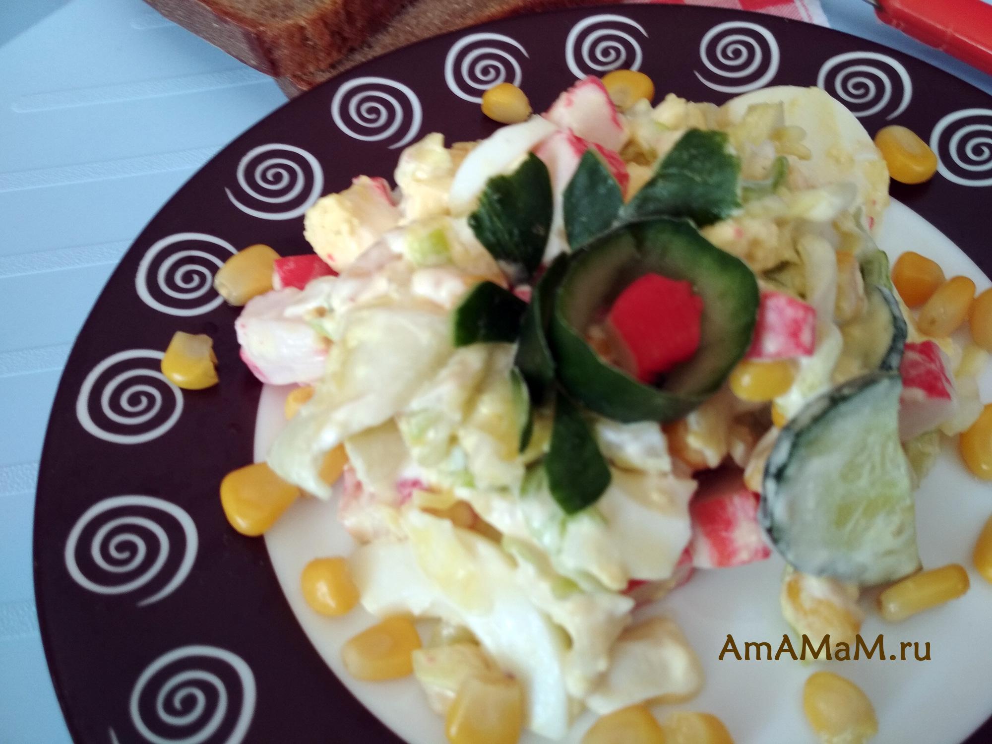 Салат из крабовых палочек и капусты