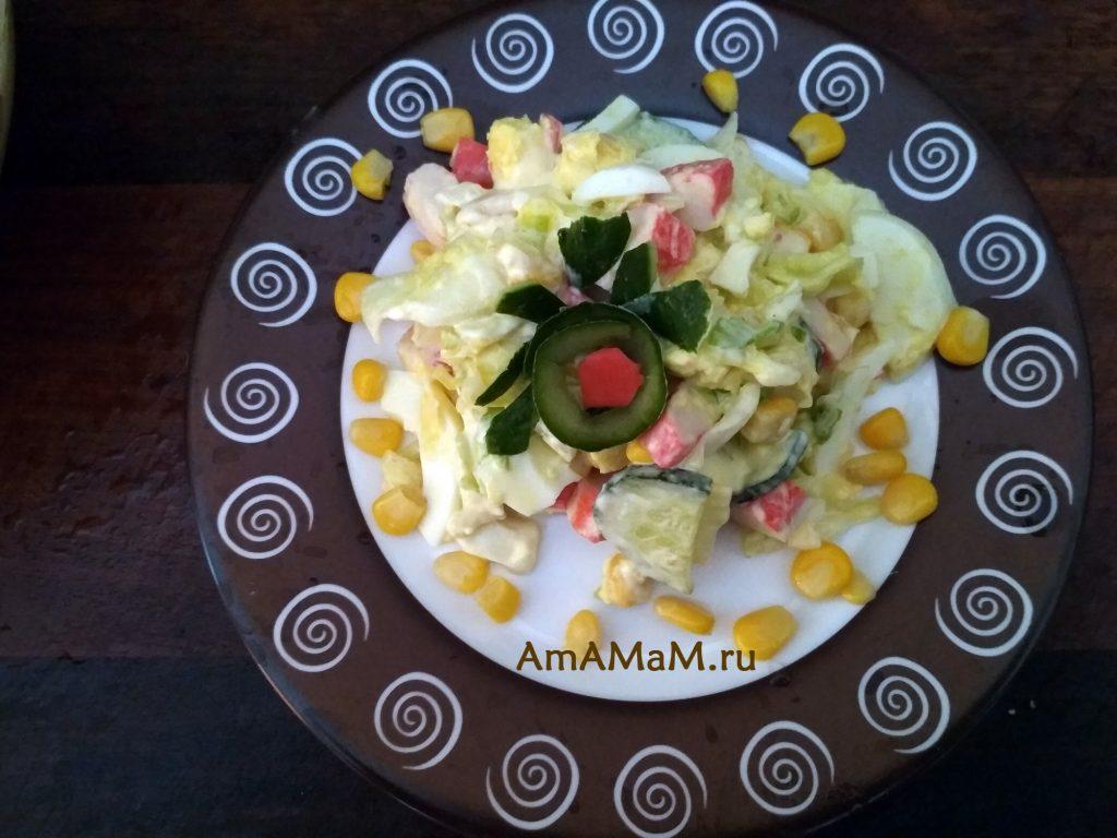 Крабовый салат на скорую руку