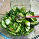 Рецепт салата из огурцов с уксусом, специями и маслом