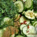 Огурцы - рецепт салата