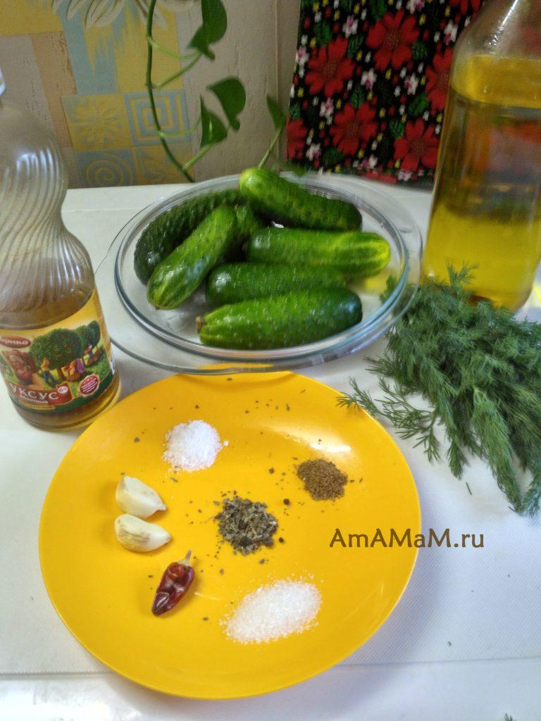 Огуречный салат - маринование