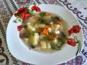 Суп из шампиньонов и плавленых сырков