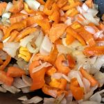 Лук. морковь и сладкий перец