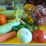 Что нужно для приготовления рагу из кабачков и тефтелек