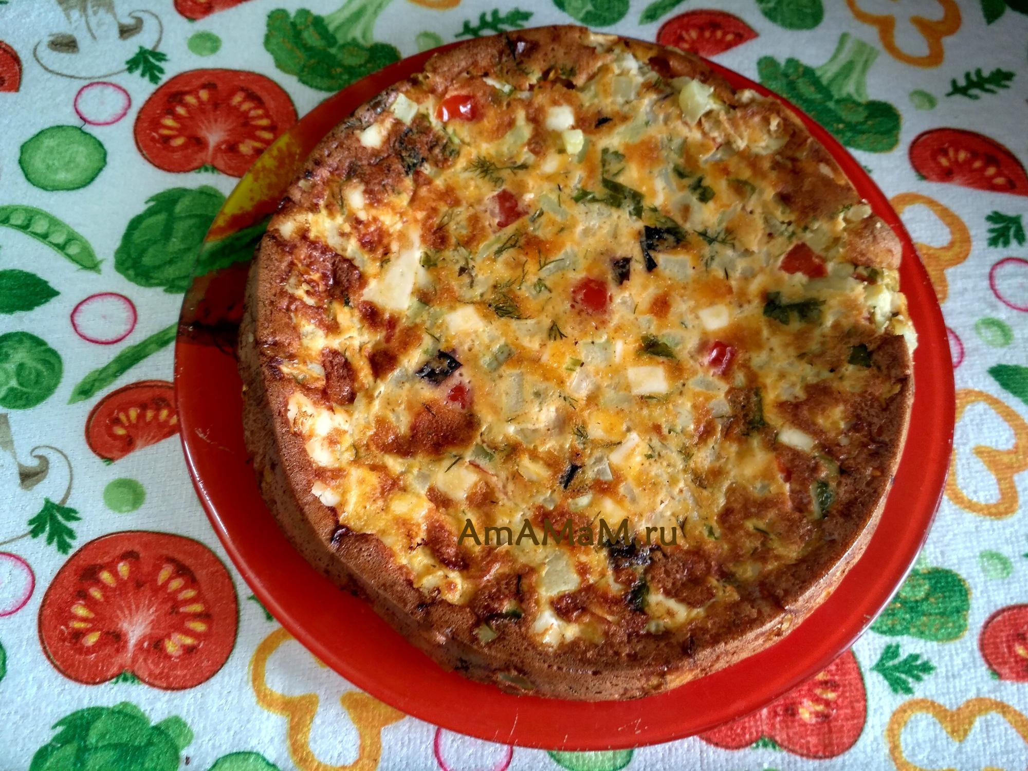 Запеканка из кабачков с плавленым сыром и помидорами