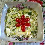 Капустный салат из Айсберга и яиц