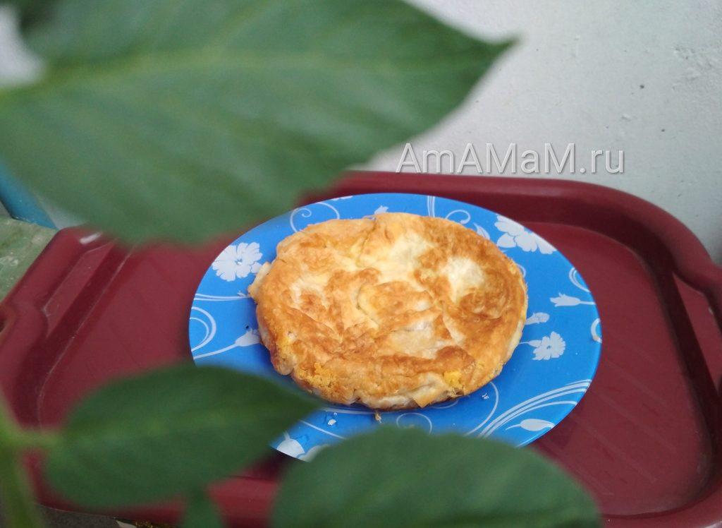 Сырная лепешка из лаваша