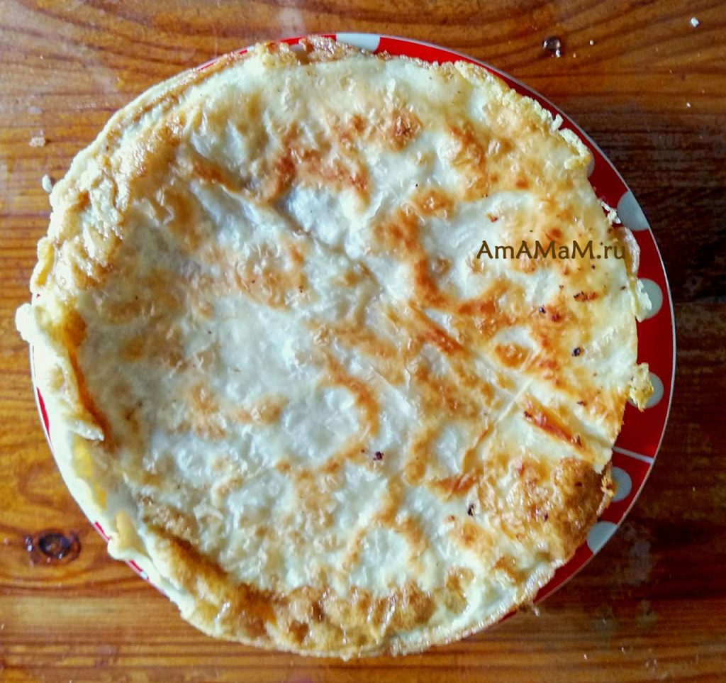 Лепешка сырная Ека - фото и рецепт