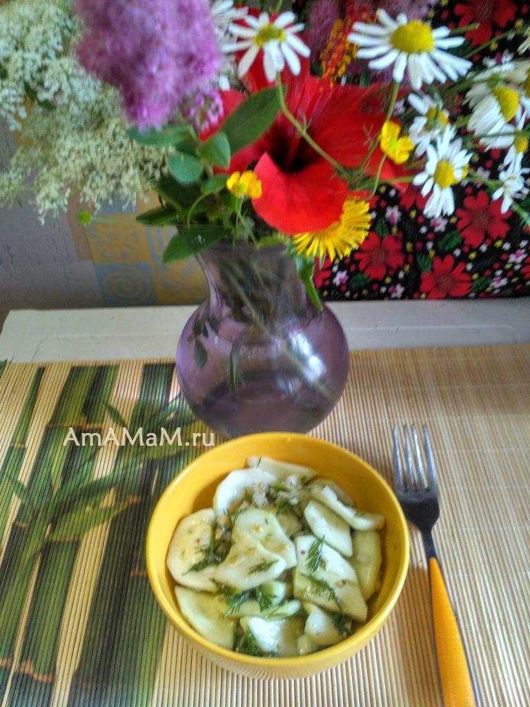 Кабачки в маринаде - простой рецепт