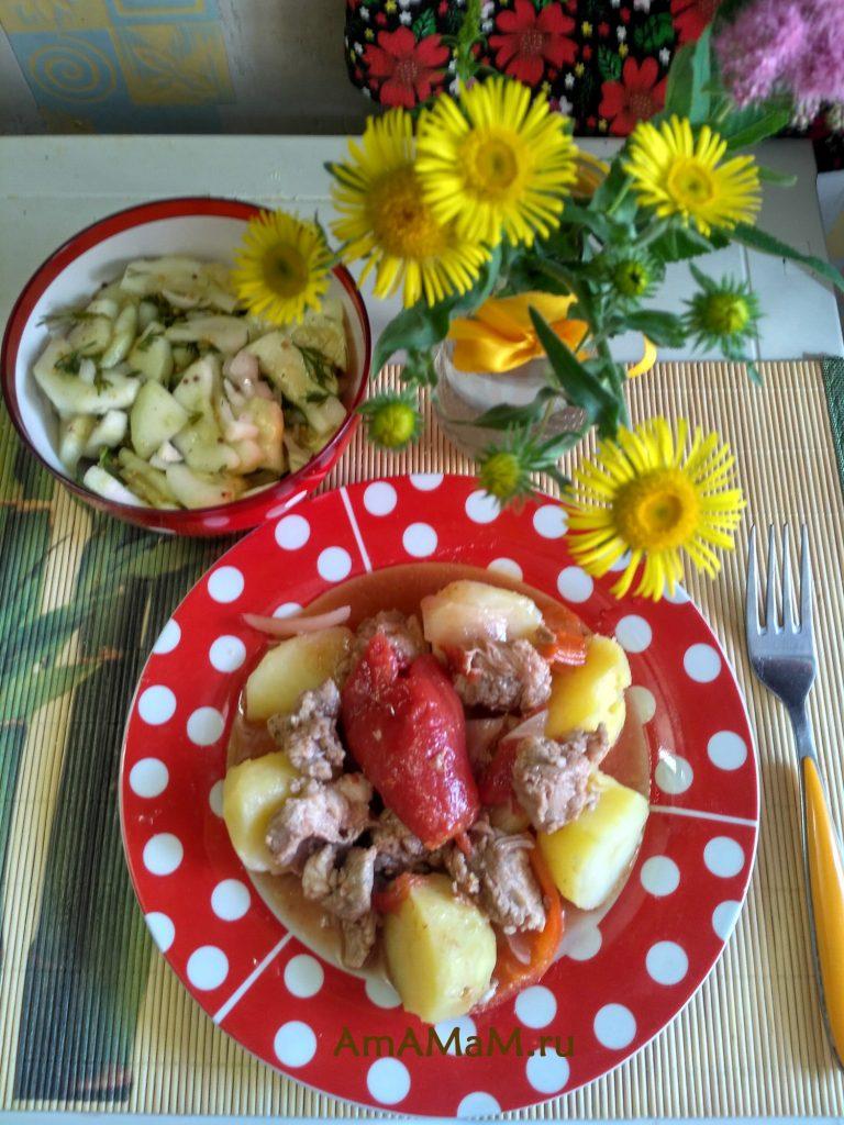 ОБед с кабачками - рецепт маринования