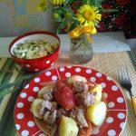 Кабачки и картошка с мясом