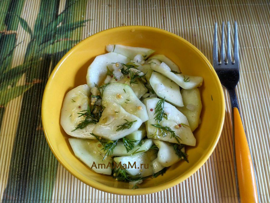 Рецепт маринования кабачков на скорую руку