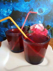 Компот из черноплодки с клюквой (замороженные ягоды)