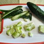Огурец - нарезка для салата