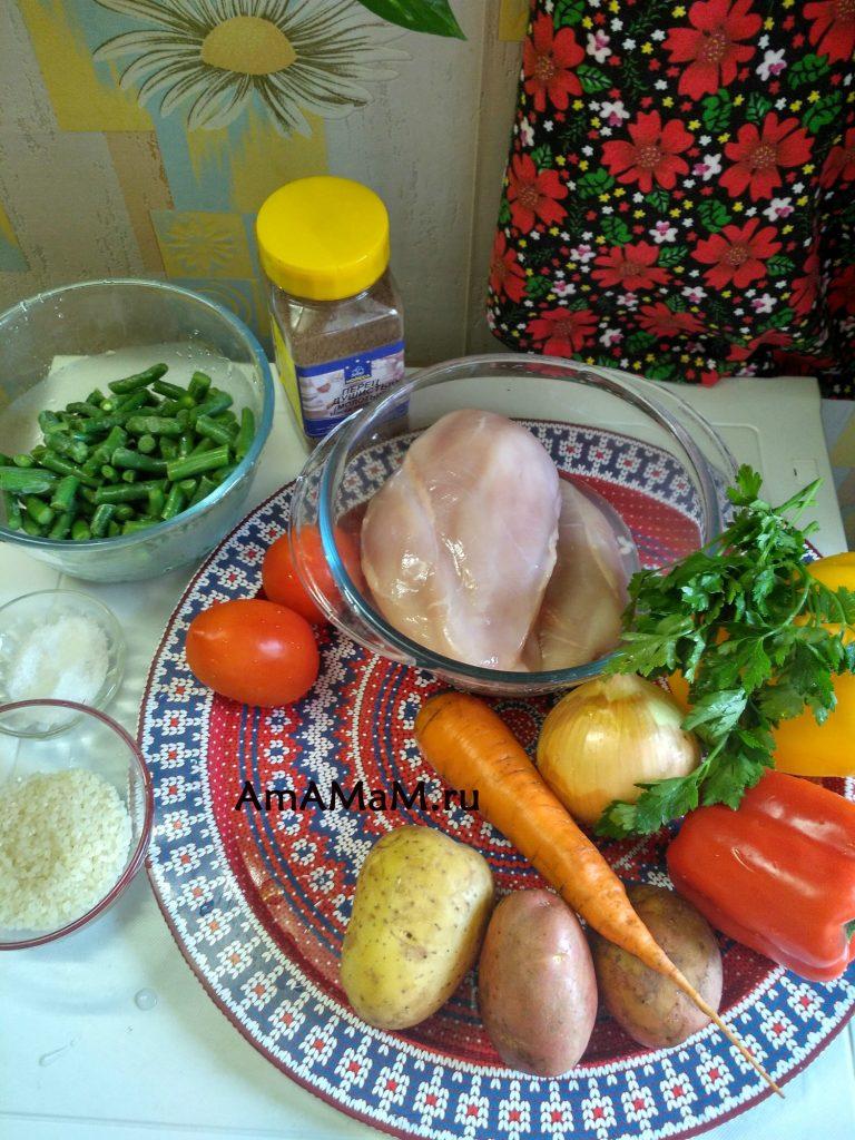 Что нужно для супа из стручковой фасоли - состав продуктов