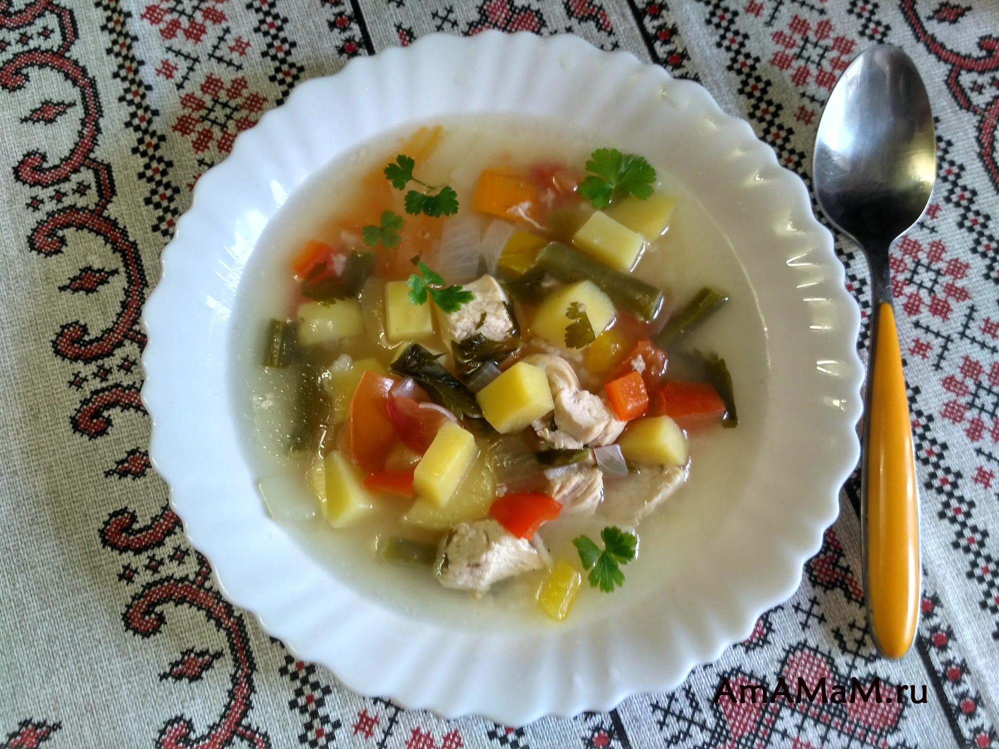 Вкусный суп со стручковой фасолью