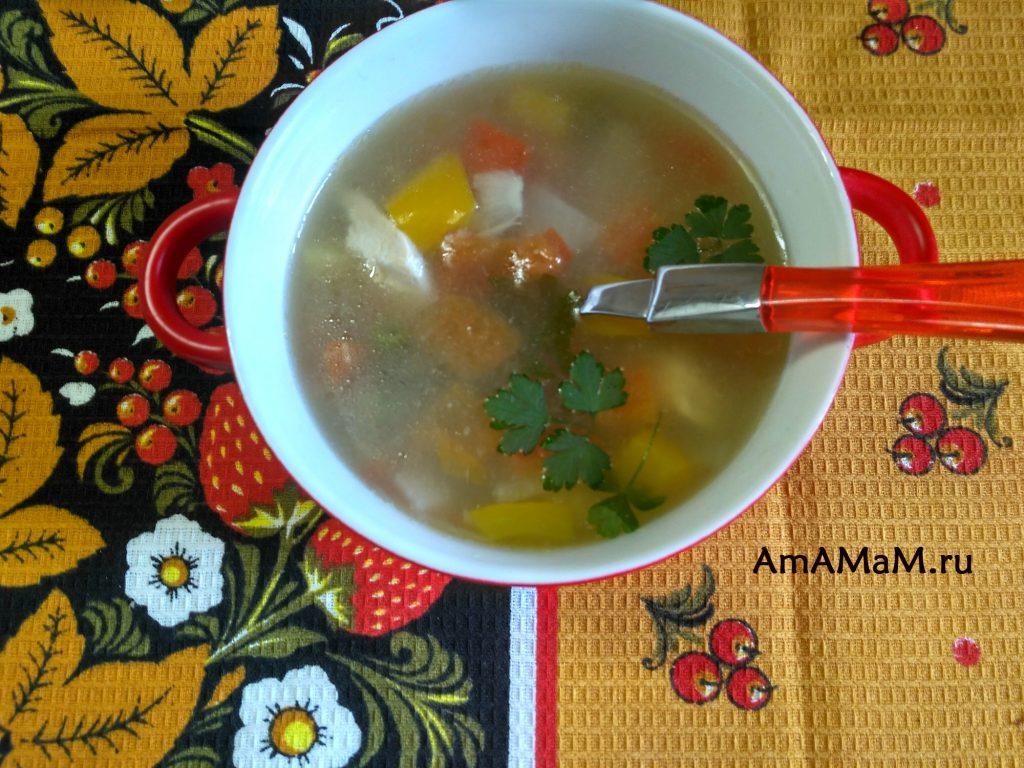 Суп из зеленой фасоли - простой рецепт