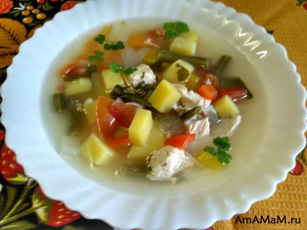 Рецепт супа из стручковой фасоли - простой и вкусный