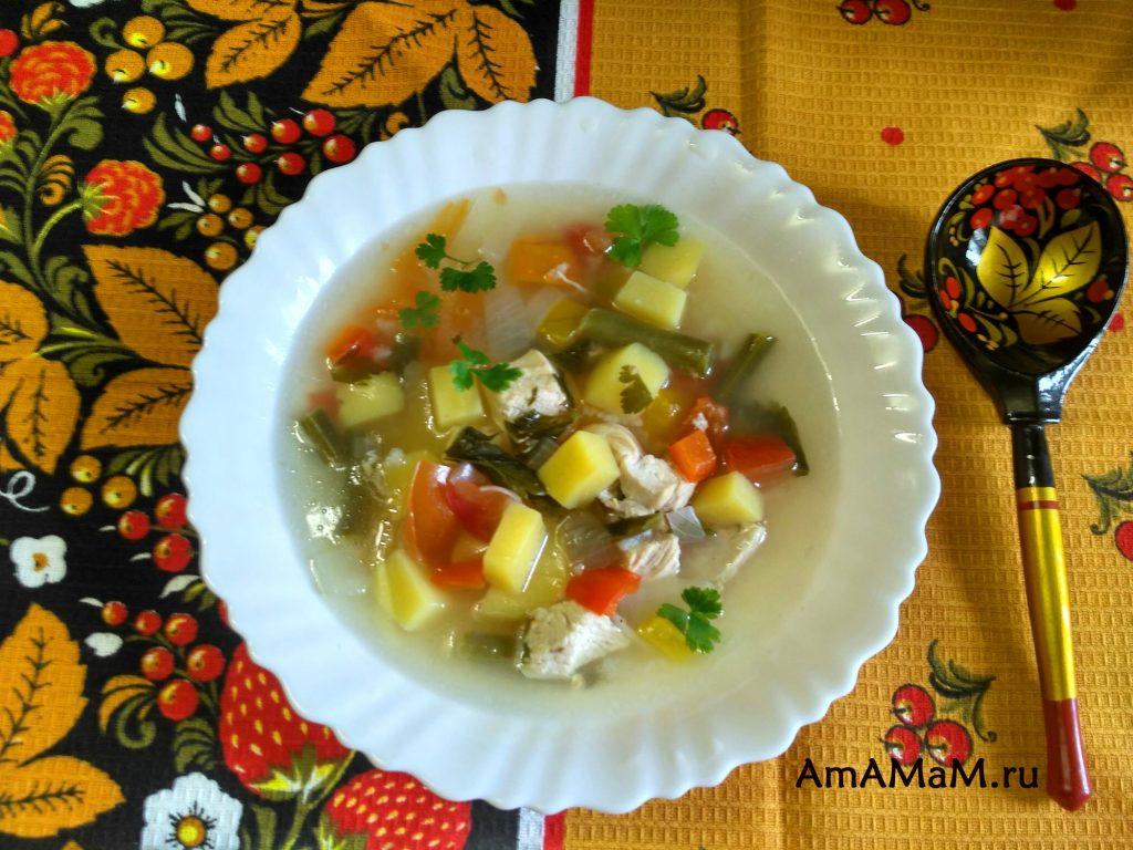 Рецепт из стручковой фасоли - вкусный суп