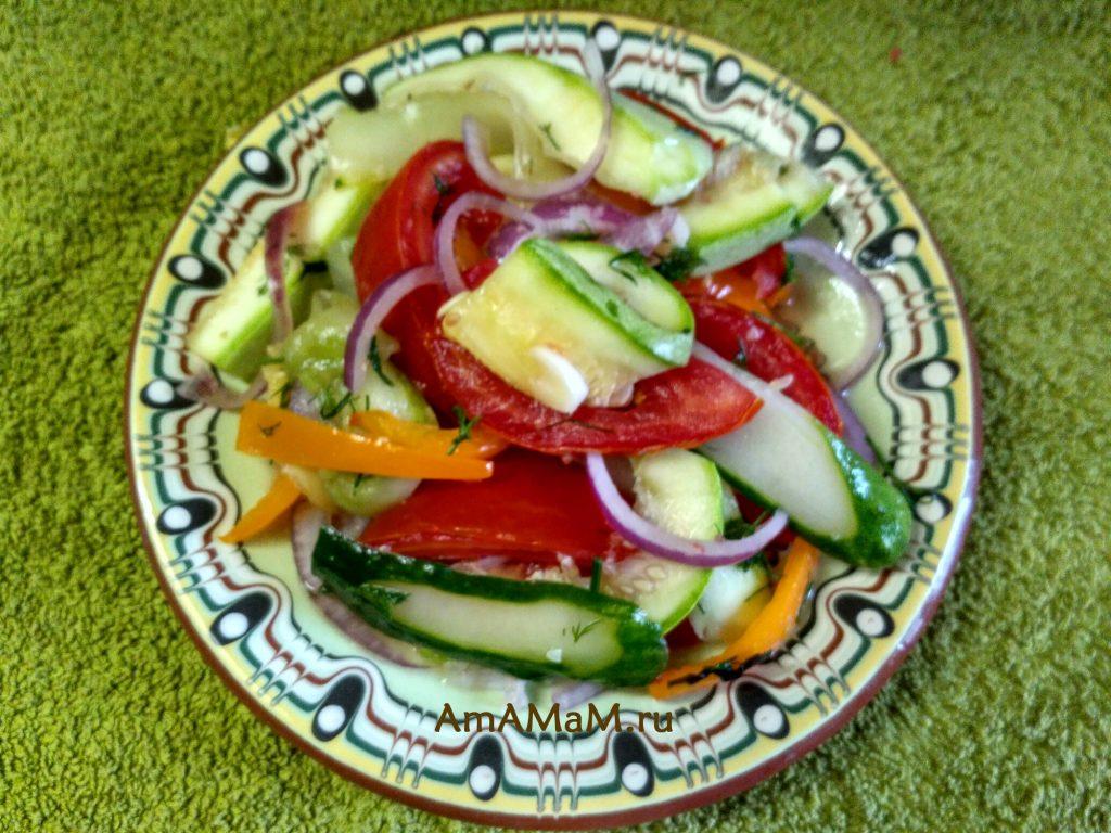 Овощи малосольные - быстрый сухой посол