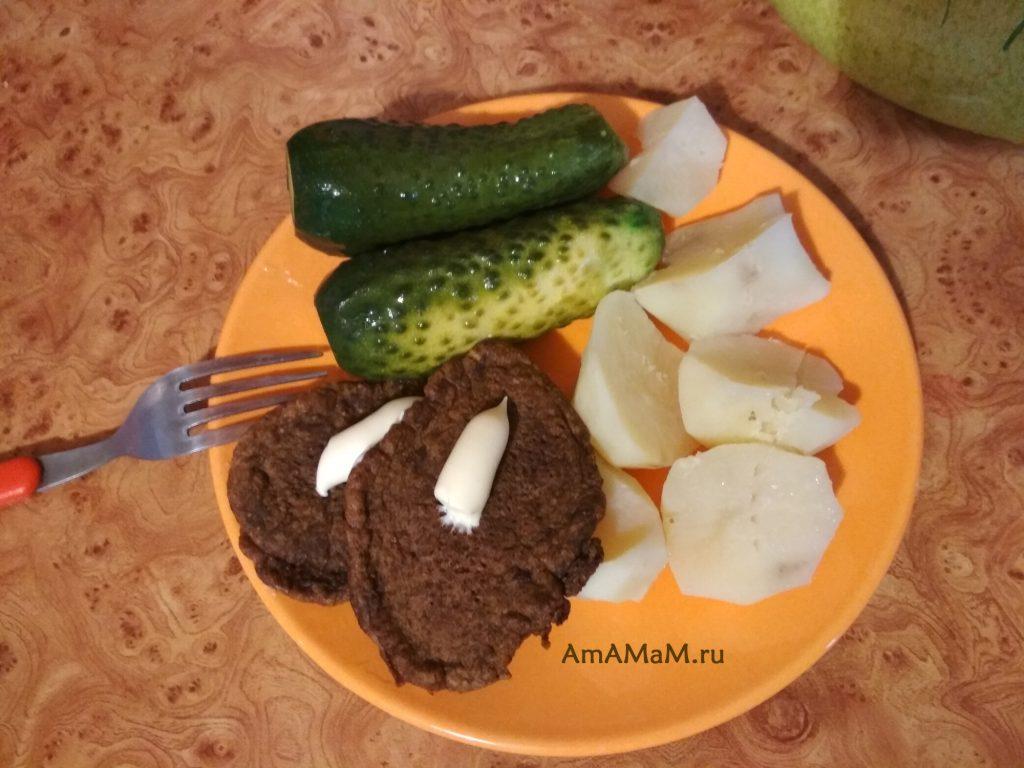 Оладьи печеночные - рецепт приготовления