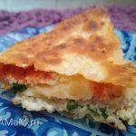 Пирог из лаваша с фаршем на сковороде (на плите)
