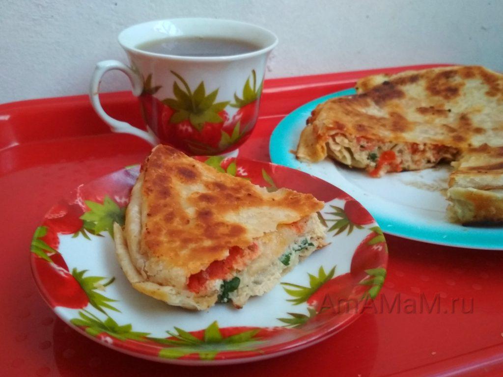 Рецепт пирога с фаршем в лаваше с фото
