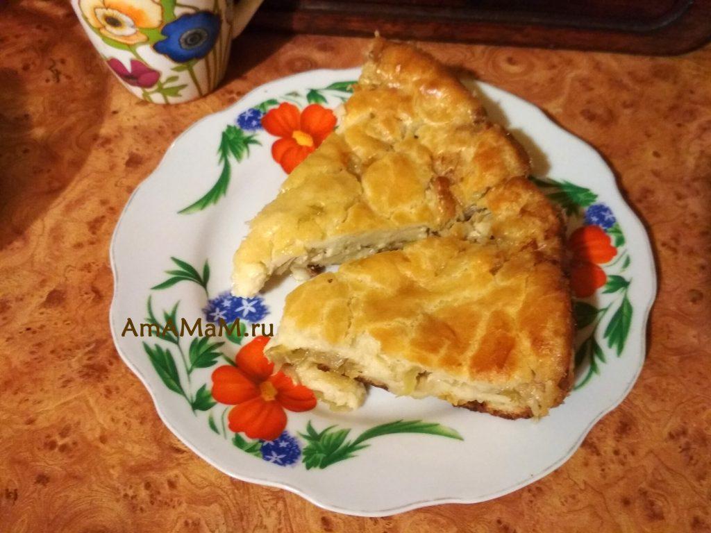 Пирог с капустой - рецепт и фото