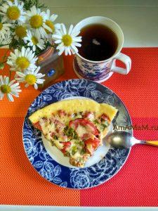Жареная пицца на сковородке