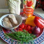 Салат из грудки и перца - состав продуктов
