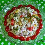 Салат из перца и грудки