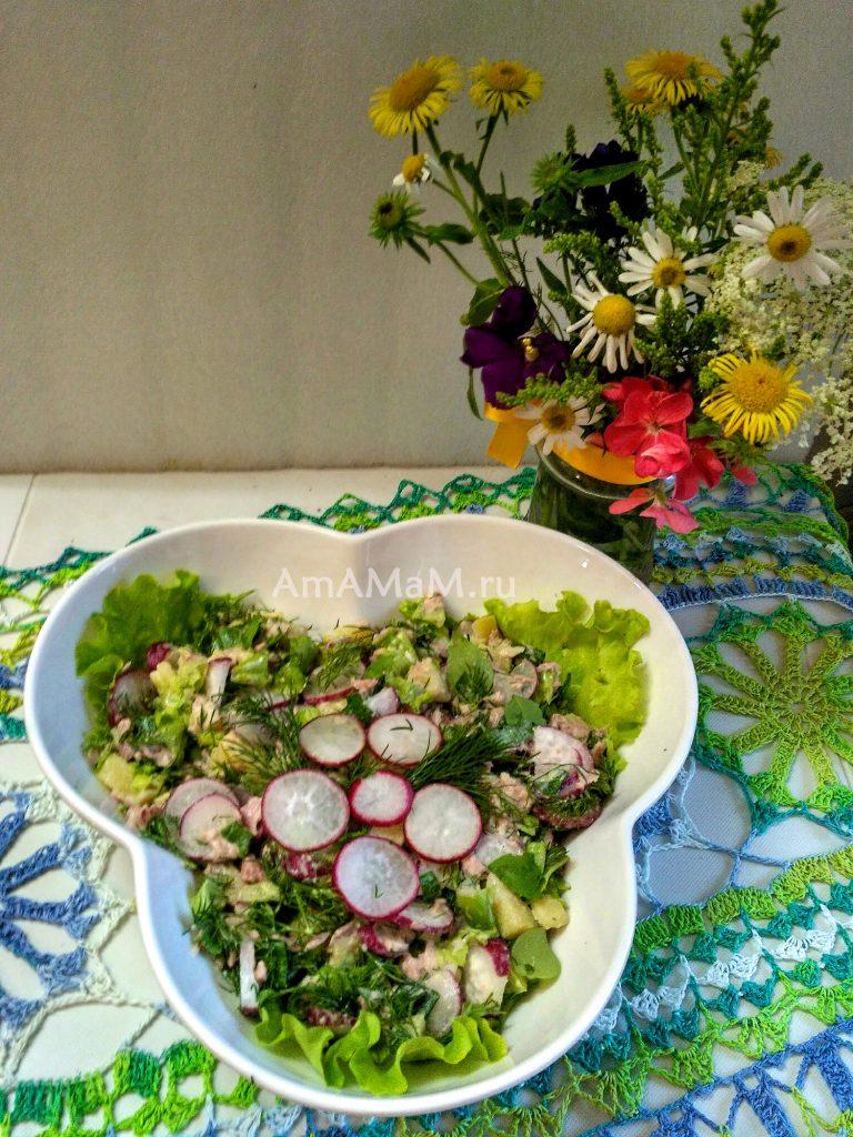 Вкусный рыбный салат из тунца