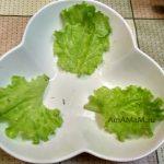 Салатница с листьями салата