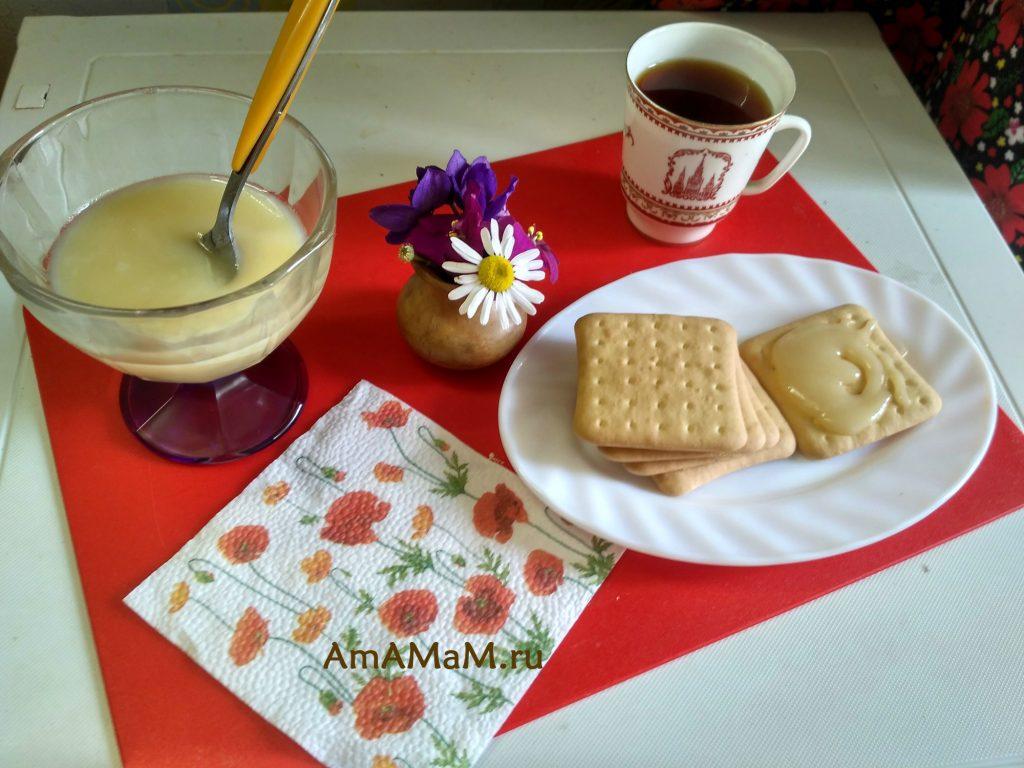 Сгущенка - рецепт из молока и сахара с маслом