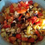 Заготовка из баклажанов с перцем и помидорами - процесс варки