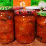 Баклажаны в томате - заготовка на зиму